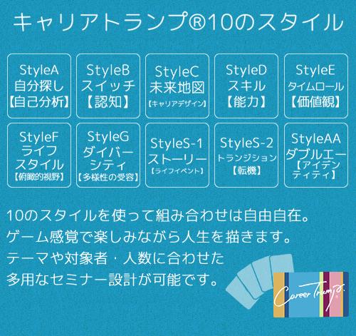 キャリアトランプ®10のスタイル
